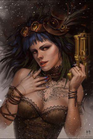 Sci-Fi / Steampunk | Steampunk Winter Girl by Yulia Misyul