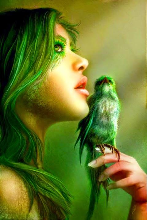 Green Wisper by Nell Fallcard