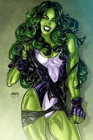 She Hulk Transformation by jarredc99