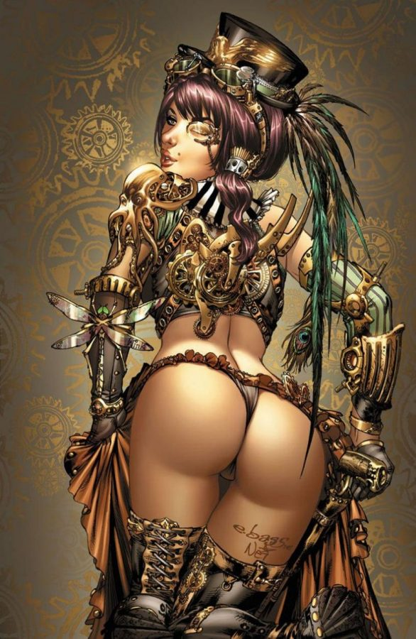 Steampunk girl by Toolkitten