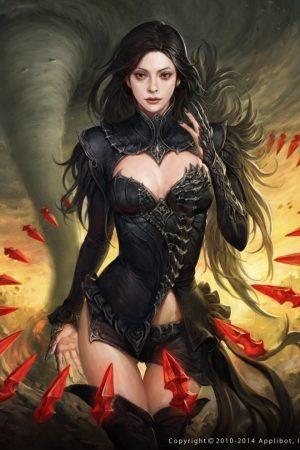 Illustration | Black Witch by Sungryun Park