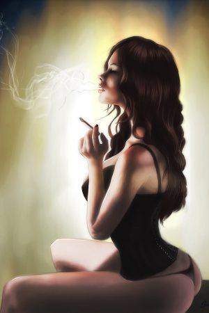 Illustration | Smokin' - by Saint Genesis