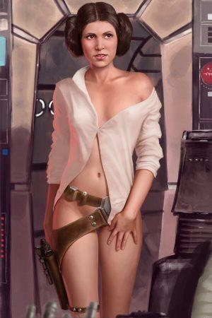 Illustration | Princess Leia says Hi' by Jedi-Art-Trick