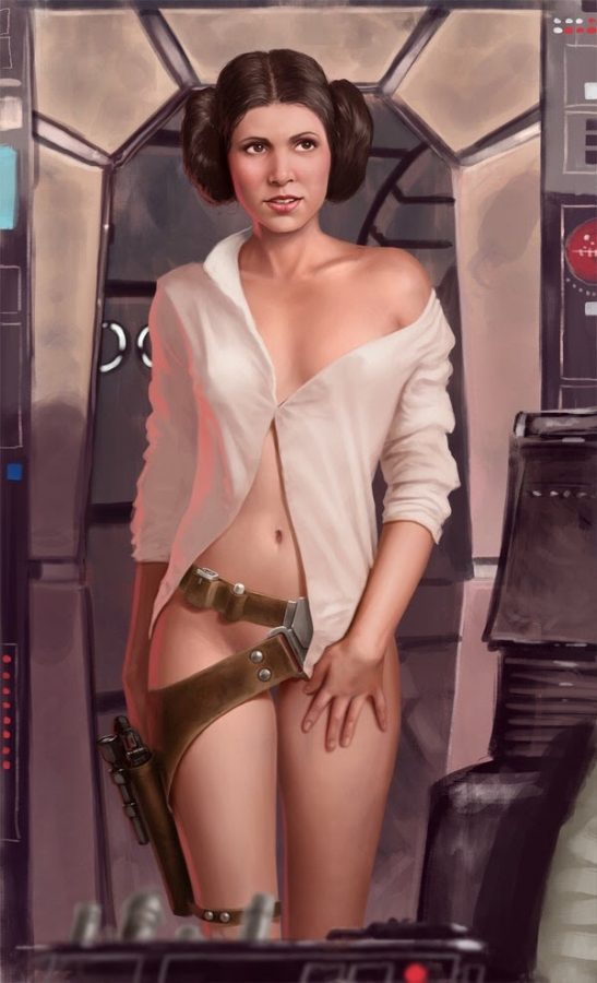 Princess Leia says Hi' by Jedi-Art-Trick
