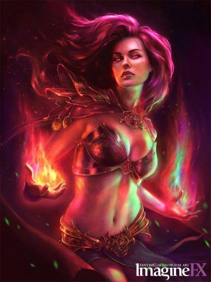 Sorceress ImagineFX cover by Marta Nael