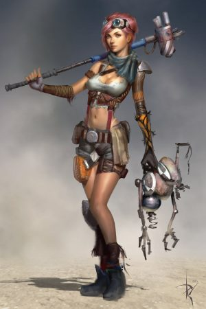 Sci-Fi / Steampunk | Ayla Character 1 by Zeronis