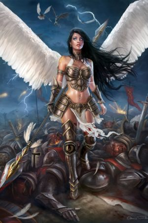 Nicole Victorious on the Battlefield by Jorsch