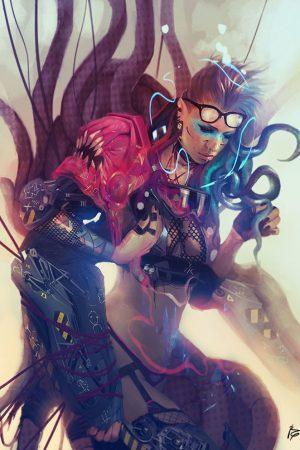Sci-Fi / Steampunk   Cyberpunk Girl by Raquel Cornejo