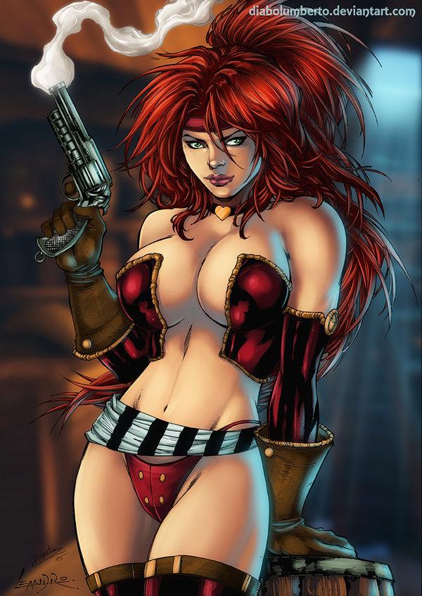 Red Monika by diabolumberto