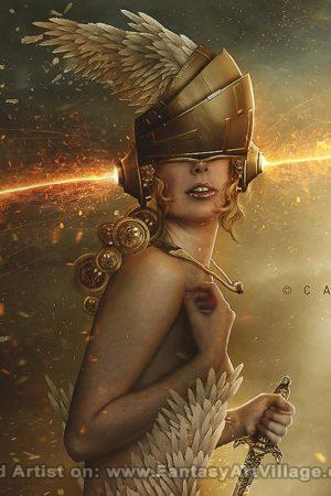 Sci-Fi / Steampunk | Carlos Quevedo - Celestial Warrior Leah