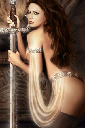 Fantasy Sexy Art | The Prayer of Sword by Al Serov