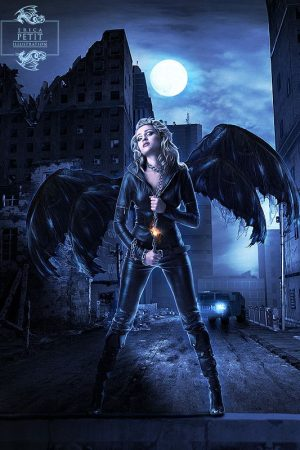 Dark Angel Art by Erica Petit