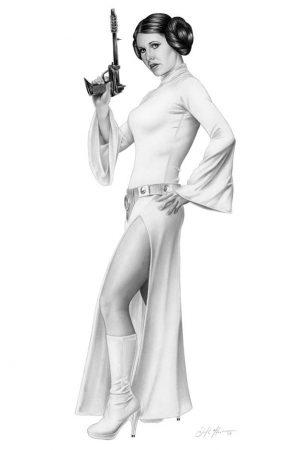Illustration | Princess Leia by Don Monroe