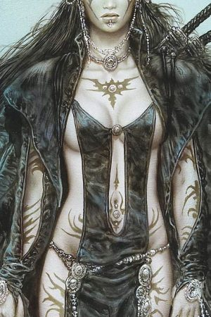 Illustration | The Daughter of the Moon by Luis Royo