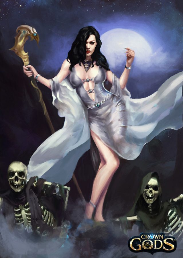 Naera the Stonehearted, Goddess of the Dead by Jackie Felix