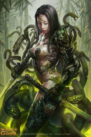 Snake girl by Hua Lu