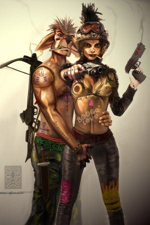 Warriors / Pirates   Tank Girl and Booga by Bram Leegwater