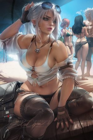 Ciri Modern beach day by sakimi Chan