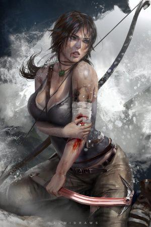 Lara Croft by Zumi Draws