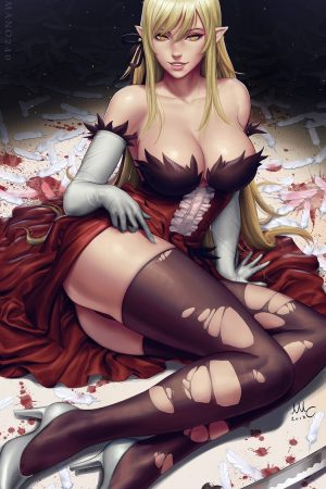 Illustration | Kiss Shot - Monogatari (2v) by Sciamano2...