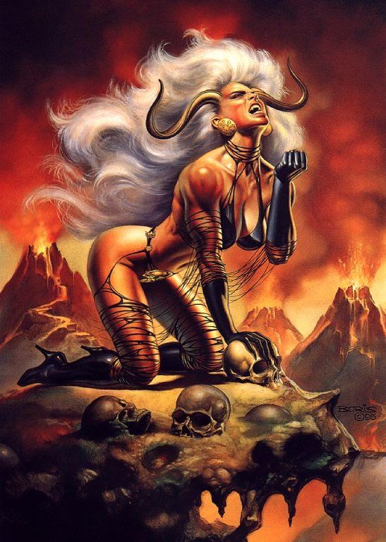 Lady Demon by Boris Vallejo