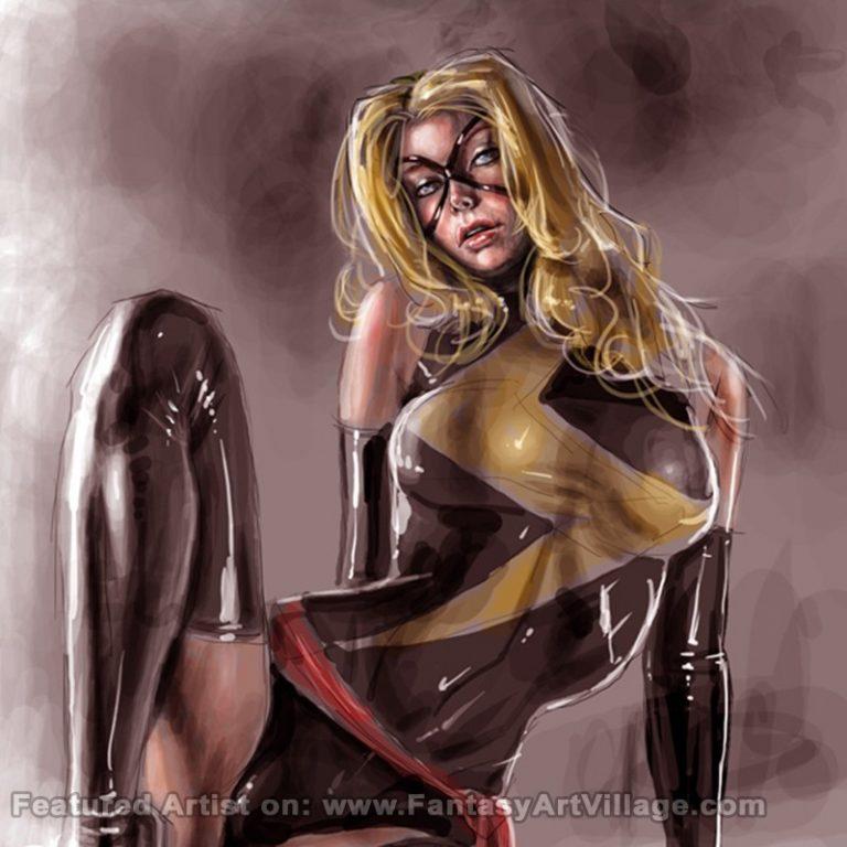 Artwork by Raffaele Marinetti – Ms Marvel
