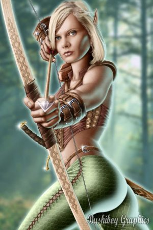 Illustration | Elven Archer by bushiboy
