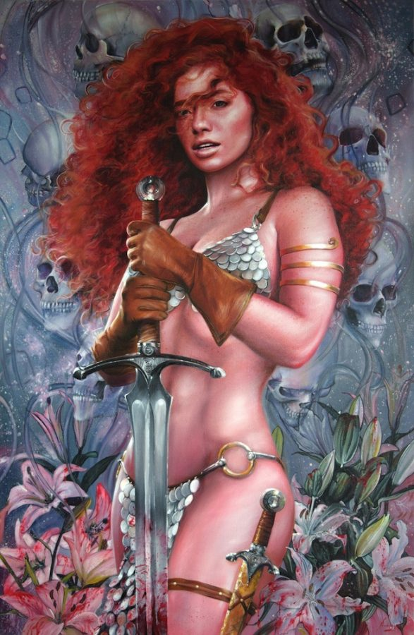 Red Sonja Portrait by Fred Ian