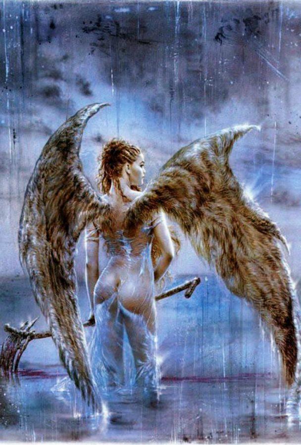 Fallen Angel IV by Luis Royo