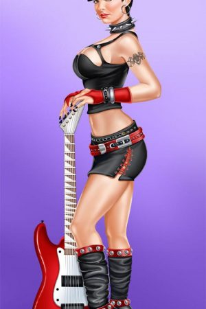 Pin Up Girls | Guitar girl by rzhevskii