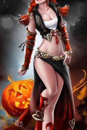 Illustration | Halloween Witch by Kajenna