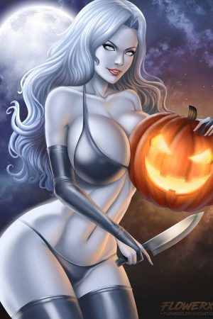 Illustration | Lady death - Halloween by Flowerxl