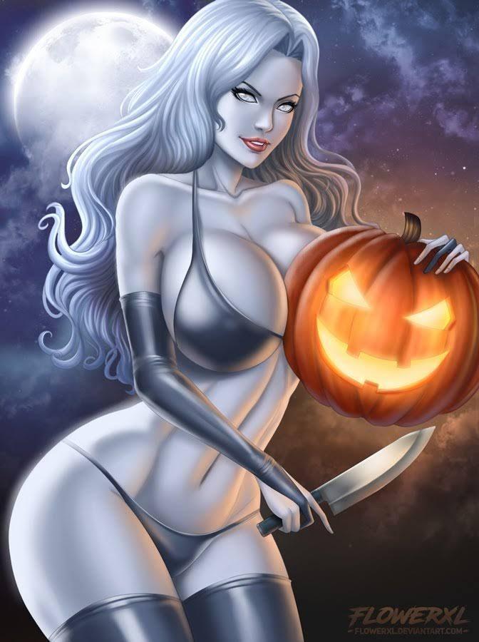 Lady death – Halloween by Flowerxl