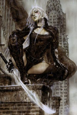 Illustration | Tears Over New York by Luis Royo