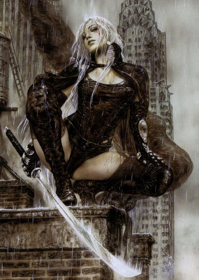 Tears Over New York by Luis Royo