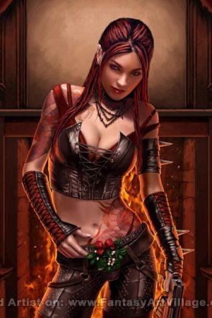 Illustration | Derek Herring - Women Warriors Mistletoe...