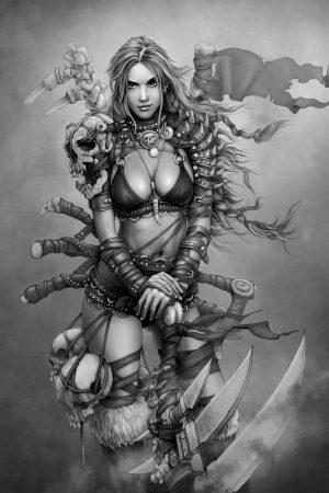 Illustration | Female Viking by Roo Yarman