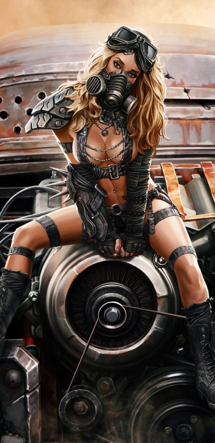 Post Apocalyptic pin up 4 by Sergey Kondratovich