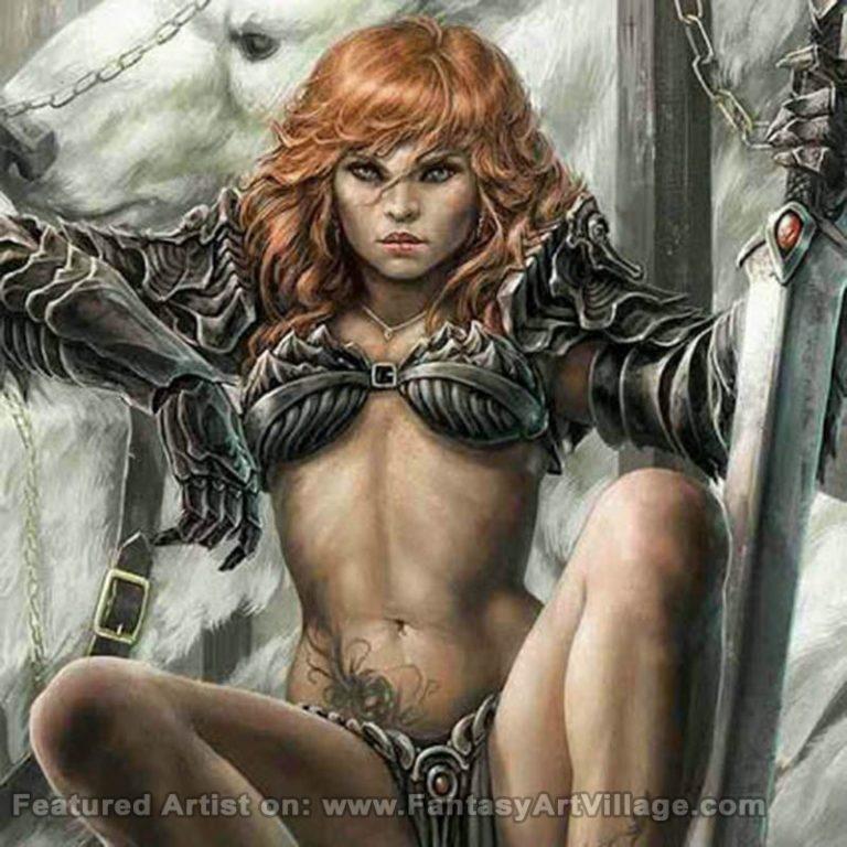 Redhead Warrior by Miguel Regodon Harkness
