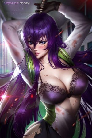 Illustration | Saeko (HOTD) by AyyaSAP