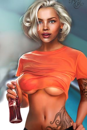 Illustration | Hot girl by Kelly Cox