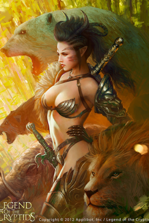 Mielikki Goddess of The Hunt by Mario Wibisono