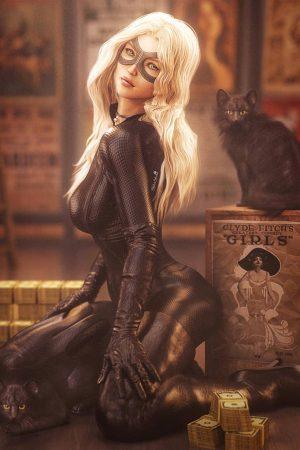 Illustration | Black Cats by Shibashake