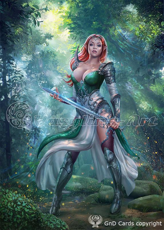 Elf-warrior by Vasylina