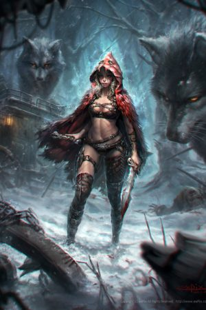 Fantasy Sexy Art | Little Red Riding Hood by Hyun-Joon Kim