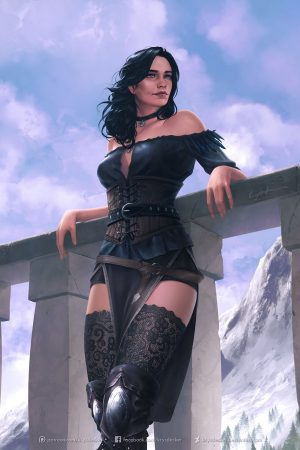 Illustration | Yennefer by Krystopher Decker