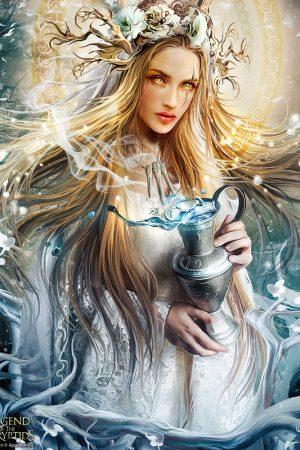 Illustration | Goddess of Destiny by Yayashin