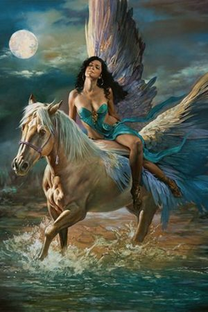Artwork by Julie Bell and Boris Vallejo