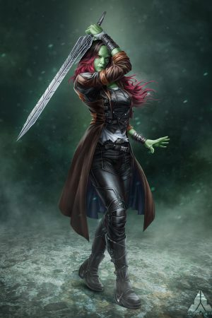 Fantasy Sexy Art | Avengers Infinity War Gamora by Jaynorn ...