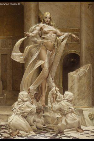 Illustration | Goddess of Light by Daniel Zrom